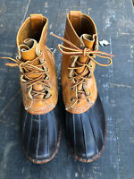Vtg LL Bean Duck Boots 6 Hole Maine Hunting Shoe USA Made Mens 8