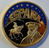 FARB-ECU 1993 - Espana / Spanien - teil-vergoldet PP / PROOF - mit Zertifikat