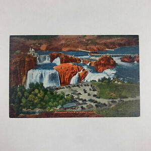 Vintage Postcard Idaho Shoshone Falls Twin