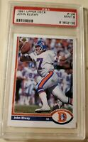 1991 Upper Deck John Elway #124 Football Card Denver Broncos PSA 9 MINT