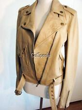 NWT JOHN GALLIANO OSTRICH EMBOSSED LEATHER MOTO JACKET 6 (40) **sALE****