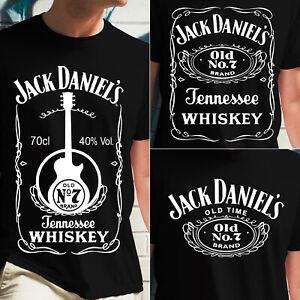 Jack Daniels Whisky Tennessee Old Time 7 TV Film Retro Graphic Tshirt Black Mens