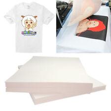 20pcs Iron On T Shirt Light Fabric A4 Heat Transfer Paper For Inkjet Printer Usa