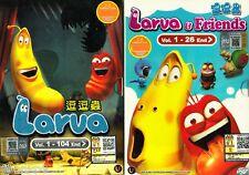 Larva + Larva & Friends Ep 1-130 END DVD English Subtitle Anime ALL Region Boxse