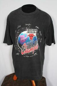 RARE VINTAGE 1991 WORLD CHAMPS CHICAGO BULLS COTTON T-SHIRT SIZE LARGE