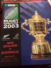 Rugby World Cup 2003 - NZ V Australia Semi-Final Program