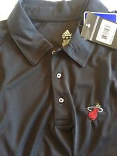 Miami Heat Men's Black Golf Polo New Adidas Small S Shirt Tee New NWT
