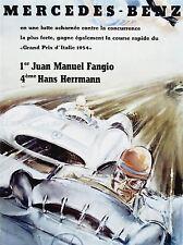 ADVERT CAR AUTOMOBILE CLASSIC RACE FANGIO HERRMANN GRAND PRIX POSTER PRINT LV046