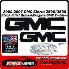 2000-2007 GMC Sierra 3500 Black Billet GMC Grille & Tailgate Emblem AMI 96510K