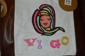"Pottery Barn Teen Astrology Organic pillow case 12x12"" ~ Horoscope ~ Virgo"