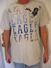 AMERICAN EAGLE OUTFITTERS MENS GRAY 100 % COTTON T-SHIRT /FRONT DESIGN SIZE L