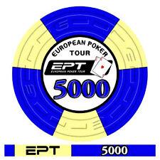 Blister da 25 fiches poker EPT Replica 2007 Ceramica Valore 5000 Bordo Allineato