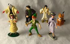 Lot of 7 Disney Cake Toppers Figures - Aladdin, Peter Pan, Cruella, Jane