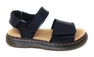 Dr. Martens Kids Romi J Black Sandals Size 2 Boys / 3 Girls US M