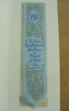 "Cash's Silk Bookmark - Birth of Prince William - 8 3/4""(22.25cms)"