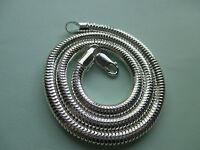 UK Jewellery (18 inch x 5 mm) 925 Sterling Silver Snake Necklace Penadant Chain