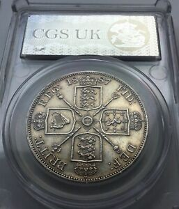 Extremely Fine 1887 Victoria silver Double Florin
