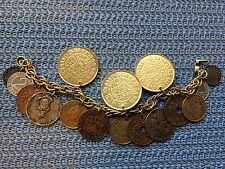 Vintage 1960's Coro Coin Charm Bracelet, Still Has All Original Coins! Rare
