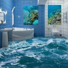 Bathroom Floor Wallpaper Self-adhesive Bedroom 3d Seawater Wallpapers Waterproof