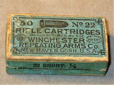 Antique Winchester Repeating Arms .22 Short Stetson 1871 Rifle Cartridge Box-Vtg
