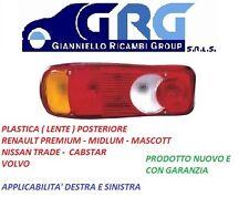 PLASTICA (LUCE)POSTERIORE DX/SX RENAULT MASCOTT-PREMIUM NISSAN-DAF-VOLVO 5 FUNZ