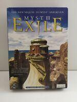 Myst III 3 Exile PC Cd Rom Windows / Macintosh - Big Box (348)