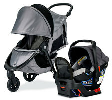 Britax B-Free Sport Travel System Stroller w Endeavours Infant Car Seat Asher