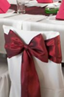 "6""x108"" Wedding Dinner Party Banquet Satin Chair Cover Sash Bow - 6 Bows Per Lot"