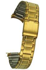 Acero Inoxidable Pulsera IP Dorado 14MM Rundanschluss Reloj de Correa Repuesto