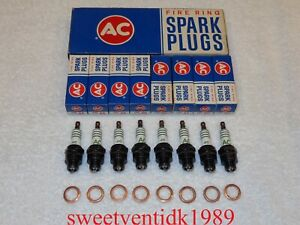 'NOS' AC-46 Spark Plugs....Circa '1965-1966' with Copper Gaskets....GM #1559494