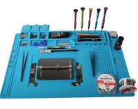 Magnetic Heat Insulation Silicone Pad Mat Platform Soldering Repair 17.7x11.8 in