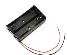 """5pcs Black Plastic Battery Storage Case Box Holder for 2x18650  6"""" Wire Leads"""