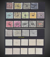 1915 - 1928 RARE SWITZERLAND RAILWAY ISSUE LOT USED ZU.13A,16Aa,18A19A , 29-43