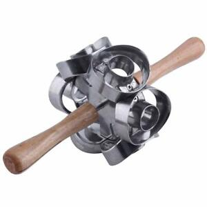 Wood Donut Steel And Mold Cake Decorating Tools Desserts Bread Cutter Maker FS