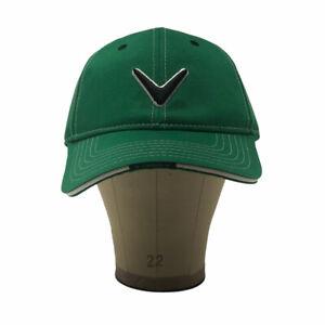 Callaway Golf Hat Cap V Logo Baseball Green Hook Loop