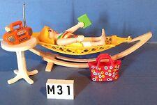 (M31) playmobil Maman dans son hamac ref 4861 4858 4859 4857