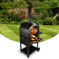 Outdoor Pizza Oven Stove Charcoal Wood Burning Fire Stones Baking Cooking Patio