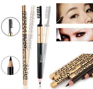 Waterproof Eyebrow Black Dark Brown Light Coffee Pencil with Brush Makeup UK❤️