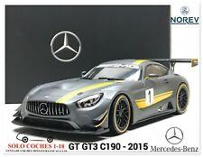 1:18 Mercedes Benz GT GT3 C190 año 2015 Presentacion Salon de Ginebra Norev