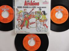 LOT OF 4  ' THE ARCHIES ' HIT 45's+1P(Copy)[Bang-Shang-A-Lang]  THE 60's&70's!