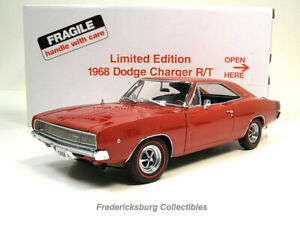 DANBURY MINT 1968 DODGE CHARGER R/T - BRIGHT RED LTD ED - MINT W/ BOX & PAPERS