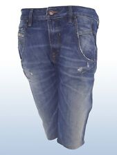diesel fayza bermuda jeans donna relaxed boyfriend blu denim taglia it 42 w 28
