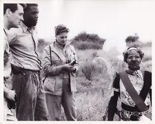 ROCK HUDSON SIDNEY POITIER Original CANDID Africa Set Vintage 1956 MGM DBW Photo
