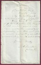 Letter Demanding Back Taxes, Dunstable, Massachusetts, May 24, 1869