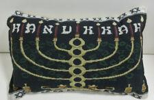 "Hanukkah Tapestry Toss Pillow (Size 12""x7"")"
