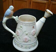 "Lenox Petals & Pearls Porcelain Bud Vase Bluebird 5 1/2"" Collectible Multi-Color"