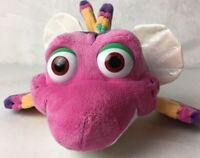 """RARE Jim Henson's SPLASH and BUBBLES Pink Fish BUBBLES 14"""" Stuffed Plush Toy"""