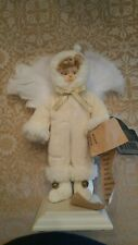 "Victorian 10"" child Angle with feathered wings"