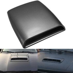 Universal Fiber Car Auto Air Flow Intake Hood Scoop Bonnet Decorative Vent Cover