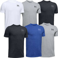 Under Armour Boys Charged T Shirt UA Kids Crew Tops TShirt Gym Cotton T-Shirt